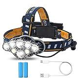Pellor LEDヘッドライト ヘッドランプ充電式 13000ルーメン超高輝度ヘッドライトT6 防水 軽量 キャンプ・サイクリング・ランニング・釣り・登山などに