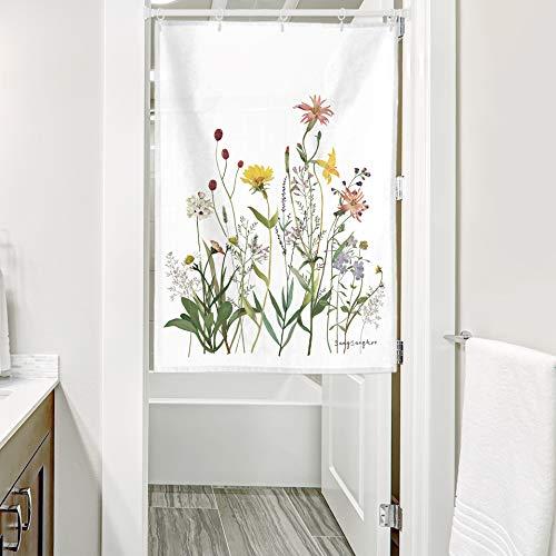 サンサンフー のれん タペストリー ユーノイア 85x120 目隠し 北欧 かわいい おしゃれ ポスター 植物 花 ピンク 風景 観葉植物 シンプル インテリア カフェ風 ヒーリング