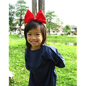 Kiki Delivery Service Cosplay Kid Dress with Red Hair Band