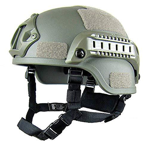YRW ONDER Buona qualità Tactical Helmet Luce Forze Speciali Anti-Esplosione Casco, Militare Anti-sommossa Attrezzature, all\'aperto CS Casco Protettivo. (Colore : Green)