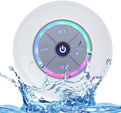 Altavoz Bluetooth portatiles Energy sistem con Luces,portátil Resistente al Agua,Bluetooth 4.0 Altavoces Estudio pc,Speaker Bluetooth Waterproof con Sonido súper bajo y HD