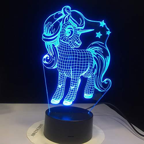 Lámpara de mesa 3D Juguete para niños Regalo LED Luz de noche Escritorio Regalo romántico Decoración de la habitación Vacaciones Novia Niños Juguete