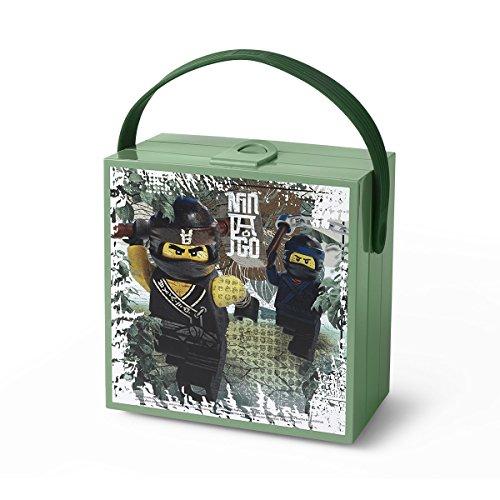 LEGO 40240602 Brotdose mit Griff Einheitsgröße Sand Green (Ninjago)