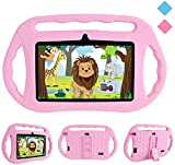 Kids Tablets PC, Veidoo 7 inch Android 8.1 Tablet with Google Play Store GMS Certification 16GB Storage, IPS Screen, Premium Parent Control Pre-Installed iWAWA APP, Best Gift for Kids (Pink)