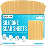 [Pack of 15] Silicone Scar Sheets, Medical Silicone Scar Removal Sheets (1.5'x3') Silicone Scar Strips for Scars, Keloid & Acne, Reusable Scar Treatment Sheets for Burns & Surgery Scars