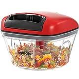 Pull Food Chopper, Manual Food Chopper Nut Chopper Easy to Clean, Mini Hand Vegetable Chopper for...