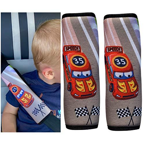 Imagen para HECKBO® 1 o 2 protectores de cinturón de seguridad para coche de carreras, diseño de Fórmula 1, cinturón de seguridad, almohadilla para el hombro, protector de cinturón
