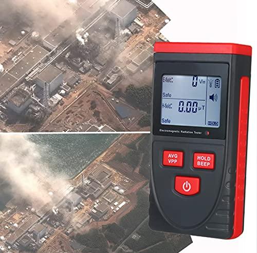 Portátil Detector Magnético Nuclear, LCD Digital Detector, Alarma Automatica, Bloqueo de una Tecla para Medición Ambiental Junto Al Mar