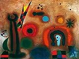 Joan Miro Libelle mit roten Flügeln Poster Kunstdruck -