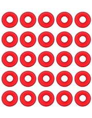 【𝐂𝐡𝐫𝐢𝐬𝐭𝐦𝐚𝐬 𝐆𝐢𝐟𝐭】Arandelas de juntas Grolsch de goma de silicona, 25 piezas Juntas Grolsch de silicona roja para columpios Botella con tapa abatible Sellos de botellas de cerveza casera