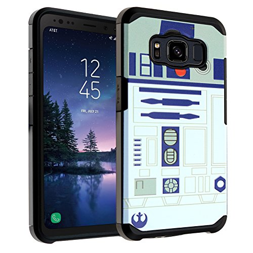 DURARMOR Galaxy S8 Active Case Star Wars R2D2 Astromech Droid Robot Dual Layer Hybrid Shockproof Slim Fit Armor Air Cushion Defender Protector Cover for Galaxy S8 Active - R2D2 Star Wars