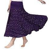 ハイウエストスパンコールスパークリングポルカドットモダンダンススカート女性社交スカートワルツラテンサルサタンゴダンススカート