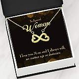 Express Your Love Gifts Mother Necklace Edad Oro Distancia Keepsake Card Gift Infinity - Colgante de acero inoxidable