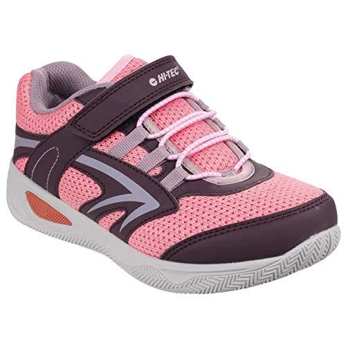 Hi-Tec - Zapatillas deportivas de cordones modelo Thunder para niños (35 EU/Ciruela/Flores/Bayas)