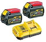 Dewalt DCB546 Lot de 2 batteries XR Flexvolt avec chargeur rapide DCB118 6 Ah 18V 54V