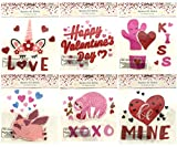 Valentines Day Hearts Love Gel Sticker Window Clings Decoration Bundle