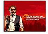 ARYAGO Red Dead Redemption 2 impresiones en lienzo de 28 x 20 pulgadas, póster de videojuegos, decoración de pared del Reverendo Swanson para dormitorio de niños y niñas, sin marco/enmarcado