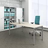 Weber Büroleben GmbH Winkelschreibtisch rechts Computertisch Eckschreibtisch 180 x 120 cm Ahorn NOVA, Gestellfarbe:Silber