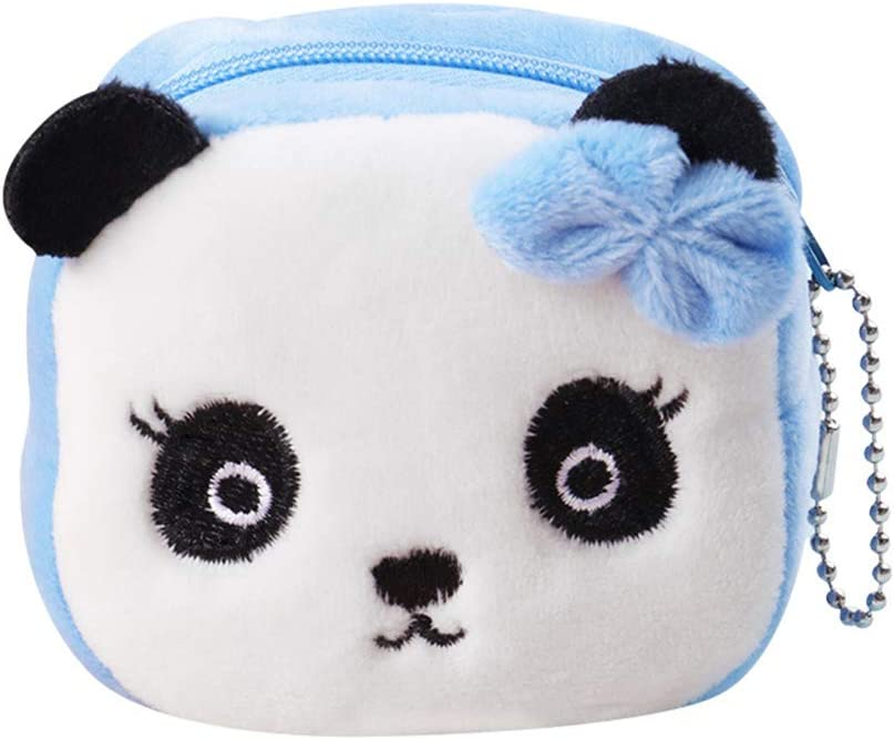 Plush Panda Animal Small Coin Zipper Money Wallet Xmas Gift