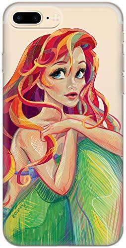 Carcasa de TPU Original de Disney Ariel La Sirenita para iPhone 7 Plus, iPhone 8 Plus, Funda de Silicona líquida, Flexible y Delgada, Protectora para Pantalla, a Prueba de Golpes y antiarañazos