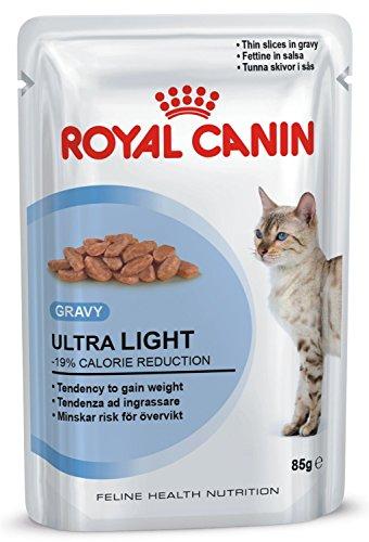 Royal Canin Ultra Light Nassfutter-Beutel für erwachsene Katzen, in Soße, 85g, 4 Pack mit je 12 Portionen