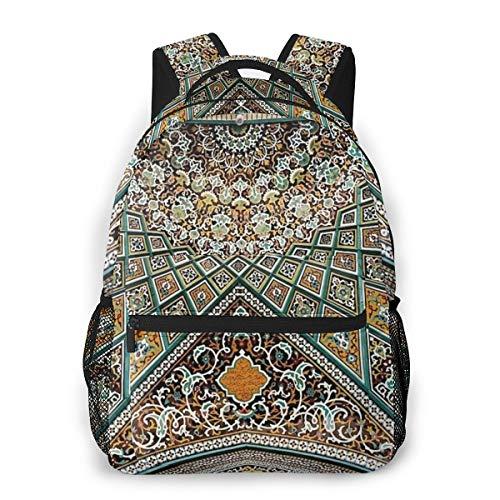 Fashion Backpack for Teen Girls Art Arabesque Casual Shoulder Bag Student Daypack Travel Laptop Bag for Men Women
