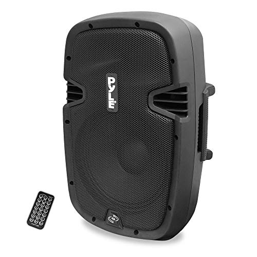 Pyle Powered Active PA Loudspeaker Bluetooth System 10 Inch Bass Subwoofer Monitor Speaker and Built in USB for MP3 Amplifier - DJ Party Portable Sound Equipment Stereo Amp Sub for Concerts (Renewed)