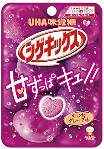 UHA味覚糖 シゲキックス キュンとグレープ味 20g ×10個