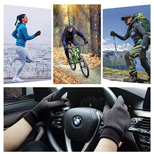 Fahrradhandschuhe Warme Winterhandschuhe wasserdichte Touchscreenhandschuhe Winddichte Laufhandschuhe rutschfeste Sporthandschuhe für Männer Frauen zum Laufen, Radfahren - 6
