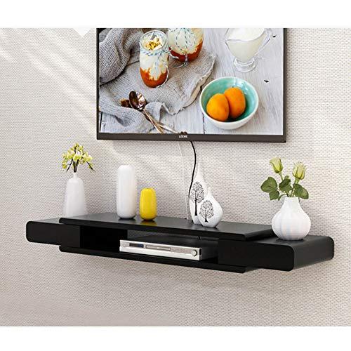 Mueble de TV de Pared con Estante Flotante, Consola Multimedia, Estante Abierto, para Decodificador de TV por SatéLite, Decodificador de Cable/C / 130cm