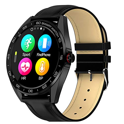 WEINANA Reloj inteligente superdelgado, frecuencia cardíaca, presión arterial, IP68, resistente al agua, pulsera inteligente para Android iOS (color: D)