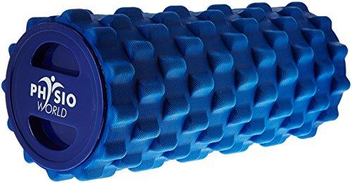 PhysioWorld Grid Foam Roller Blue 33x15cm Trigger...