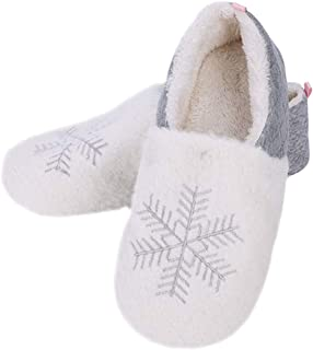 Winter Warm Fleece Slipper Women Indoor Slipper Cartoon House Slipper Comfy Bedroom Slipper Anti Slip Floor Shoes Full Slippers Booties Soft Plush Slip-on Mules Ladies Girls Ankle Boot Shoes Footwear