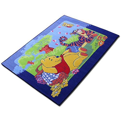 TW24 Disney Kinderteppich mit Motivauswahl 133x95cm Spielteppich Teppich Kinderzimmer (Winnie)