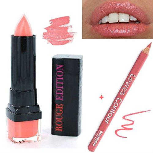 Kit Bourjois - Rouge à lèvres Rouge Edition n°19 Corail en Vogue + Crayon Contour des Lèvres n°19 Sienne kiss (2 produits)