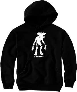 Daft Threads Stranger Demogorgon Things Hoodie Sweatshirt & Sticker Black