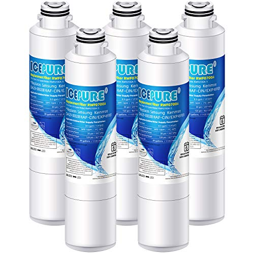 Icepure DA29-00020B Replacement Refrigerator Water Filter For Samsung DA29-00020B, DA29-00020A, DA-97-08006A, HAF-CIN/EXP, HAFCIN, KENMORE 469101,RF28HMEDBSR, RF4287HARS,RF263TEAESG, RH22H9010SR 5PACK