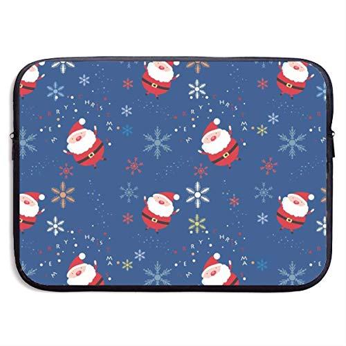 Polyester Laptop Sleeve Leuke Kerst Achtergrond Computer Draagtas met Duurzame Ritssluiting, Ademend en Schokbestendig Aktetas Compatibel voor 13/15 Inch Notebook/Ultrabook