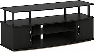 FURINNO Stojak na telewizor do 150 cm, drewno, czarny, jeden rozmiar