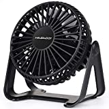 HASAGEI USB Fan, Mini Desk Fan 5 Inch Table Fan with Strong Airflow & Low Noise, Portable Cooling Fan Speed Adjustable 360? Rotatable Head for Office Home Bedroom and Desktop