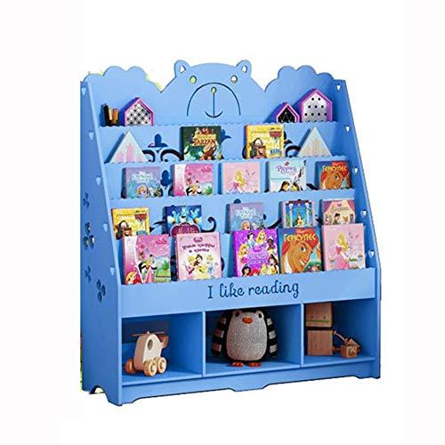 DD-Estantería de artículos Diversos, Niños Estante de Libros Niños Librero- Fácil Acceso Solución de Almacenamiento Perfecta for Dormitorio Infantil/Guardería/Sala de Juegos (Color : Blue)