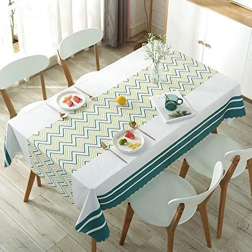 Mantel Rectangular Rectangular deplásticoImpermeablePVC manteles a Prueba de Aceite Cubierta de Mesa decoración del hogar Mantel de Navidad - 04,90x150cm