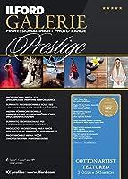 ILFORD 2005012 GALERIE Prestige Cotton Artist Textured - 8.5 x 11 Inches, 25 Sheets [並行輸入品]