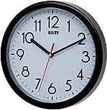 Unity Hastings - Reloj de Pared Moderno (22 x 22 x 5 cm), Color Negro