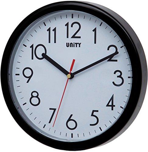 Unity Hastings Horloge Murale Moderne silencieuse Noir 22 x...