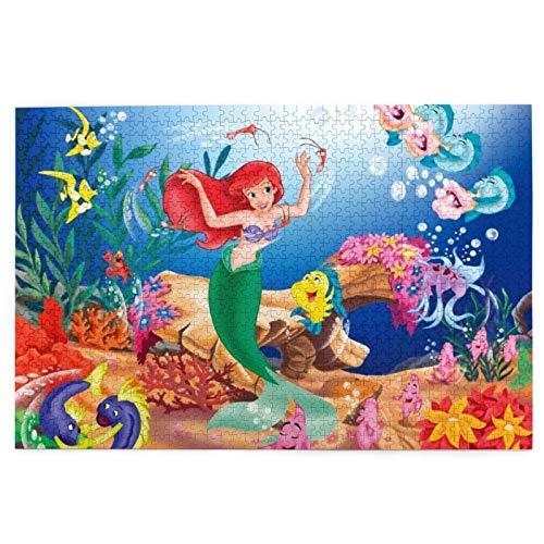 Rompecabezas de princesa Ariel de 1000 piezas, rompecabezas de 1000 piezas para adultos y amigos