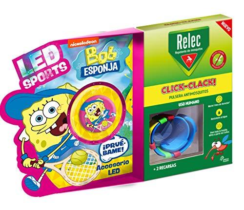 Relec Relec Pulsera Antimosquitos Bob Esponja Tenis | Eficaz Contra El Mosquito...