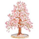 Nupuyai Edelstein Baum Feng Shui Geldbaum Baum des Lebens Kristallbaum Wire Wrap Trommelsteine Glücksbaum Dekoration