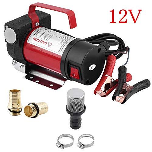 Ölabsaugpumpe, 12 V Elektrische Ölpumpe Kraftstoffpumpe Absaugpumpe 40L / min Dieselpumpe Benzinpumpe Transfer-Pumpe für Auto/Motor/Fahrzeug
