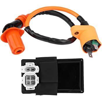 [SCHEMATICS_4HG]  Amazon.com: KIMISS 2Pcs Ignition Coil DC CDI Box Kit for Kymco SYM Vento  Scooter GY6 Engine 125CC 150CC: Automotive | Kymco And Spark Plug Wiring Harness |  | Amazon.com